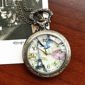 Montre collier de Femme d'alliage à Quartz