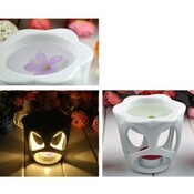 Belle Lampe Glabre Hollowed Parfum Porcelaine Bougie